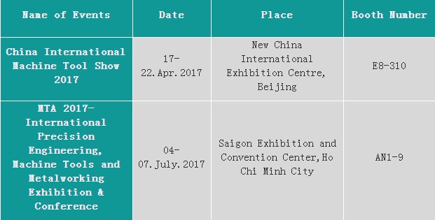 Exihibition and Event Plan of Wss in 2017